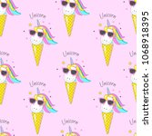 seamless pattern with cute... | Shutterstock .eps vector #1068918395