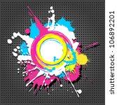 cute circular grunge frame on... | Shutterstock .eps vector #106892201
