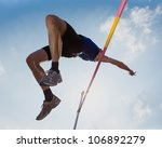 high jump in track and field | Shutterstock . vector #106892279