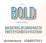 bold font colorful 3d style.... | Shutterstock .eps vector #1068927011