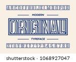original typeface modern... | Shutterstock .eps vector #1068927047
