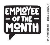 employee of the month. vector... | Shutterstock .eps vector #1068930074