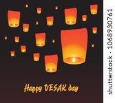 happy vesak day. this is the...   Shutterstock .eps vector #1068930761