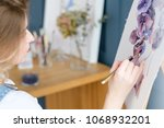 painting art classes.... | Shutterstock . vector #1068932201