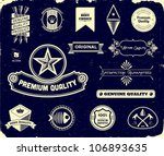 vintage labels on the black.... | Shutterstock .eps vector #106893635