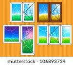 set of window templates | Shutterstock .eps vector #106893734