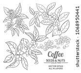 coffee vector set | Shutterstock .eps vector #1068950441