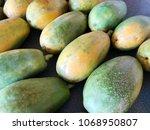 Pile Of Ripe Papayas For Sale...