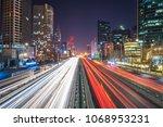 busy traffic in urban   Shutterstock . vector #1068953231