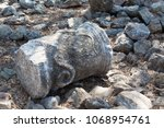 ancient stone wall on the...   Shutterstock . vector #1068954761