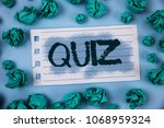 text sign showing quiz.... | Shutterstock . vector #1068959324