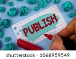 text sign showing publish.... | Shutterstock . vector #1068959549