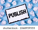 word writing text publish.... | Shutterstock . vector #1068959555