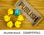text sign showing publish.... | Shutterstock . vector #1068959561