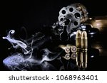 gun weapon revolver pistol colt | Shutterstock . vector #1068963401