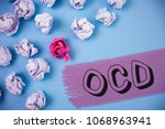 Word Writing Text Ocd. Busines...