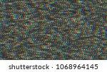 unique design abstract digital... | Shutterstock . vector #1068964145
