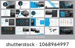 presentation template for... | Shutterstock .eps vector #1068964997
