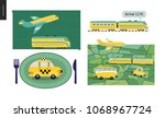 from point a to point b a set... | Shutterstock .eps vector #1068967724