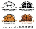 basketball champions designs... | Shutterstock .eps vector #1068975959