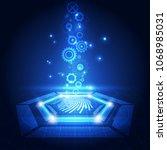 fingerprint integrated in a... | Shutterstock .eps vector #1068985031