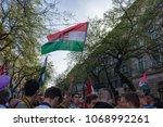 budapest  hungary   april 14 ... | Shutterstock . vector #1068992261