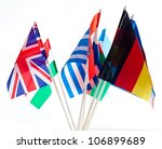 Grouping Of Various Flags Of...
