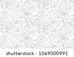 vector insurance pattern....   Shutterstock .eps vector #1069000991