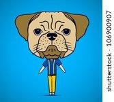 Funny Boy With Big Dog Head....