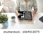 smart industry. industrial and... | Shutterstock . vector #1069013075