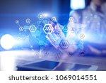 organisation structure chart ... | Shutterstock . vector #1069014551