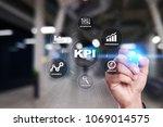 kpi. key performance indicator. ... | Shutterstock . vector #1069014575