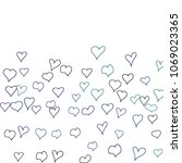 hand drawn hearts. background.  ...   Shutterstock .eps vector #1069023365