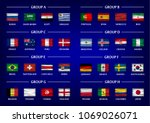 soccer cup team group set .... | Shutterstock .eps vector #1069026071