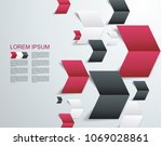 group of paper arrows  abstract ... | Shutterstock .eps vector #1069028861