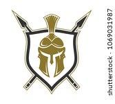 spartan logo design template....   Shutterstock .eps vector #1069031987
