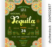 national tequila day announcing ... | Shutterstock .eps vector #1069032857