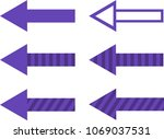 set of filled  striped and... | Shutterstock .eps vector #1069037531