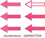 set of filled  striped and... | Shutterstock .eps vector #1069037534