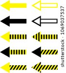 set of filled  striped and... | Shutterstock .eps vector #1069037537