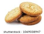 homemade shortbread cookie on...   Shutterstock . vector #1069038947