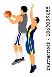 basketball players vector... | Shutterstock .eps vector #1069039655