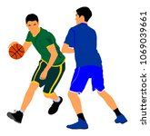 basketball players vector... | Shutterstock .eps vector #1069039661
