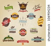 vintage labels and ribbon retro ... | Shutterstock .eps vector #106904234