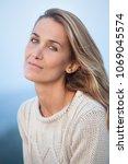 portrait of a beautiful woman... | Shutterstock . vector #1069045574