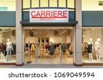 Small photo of Vaughan, Ontario, Canada - March 17, 2018: Carriere Studio store front at Vaughan Mills mall near Toronto.