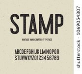 vintage handcrafted typeface... | Shutterstock .eps vector #1069054307