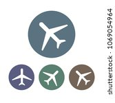 airplane icon  plane sign. set. ... | Shutterstock .eps vector #1069054964
