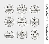 set of vintage wilderness logos.... | Shutterstock .eps vector #1069057691