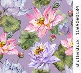 Exotic Pink And Purple Lotus...